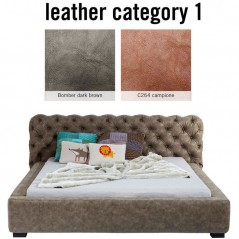 Bed Slumber Individual 160x200cm Leather 1