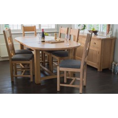 VL Breeze Extending Oval Table 1800/2200