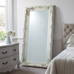 Carved Louis Leaner Mirror Cream W895 x H1755mm