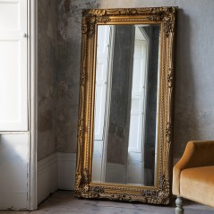Carved Louis Leaner Mirror Gold W895 x H1755mm