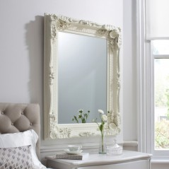 Carved Louis Mirror Cream W895 x H1200mm