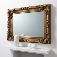 Carved Louis Mirror Gold W895 x H1200mm