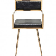 Chair with Armrest Jazz Rosegold
