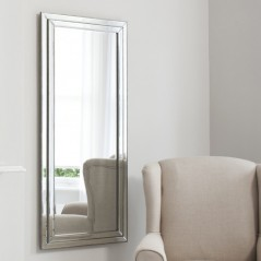 Chambery Leaner Mirror Pewter W685 x H1550mm