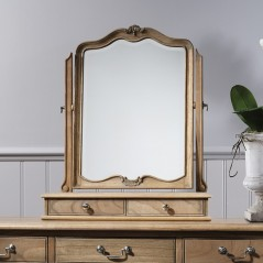 Chic Weathered Table Mirror W600 x D180 x H730mm