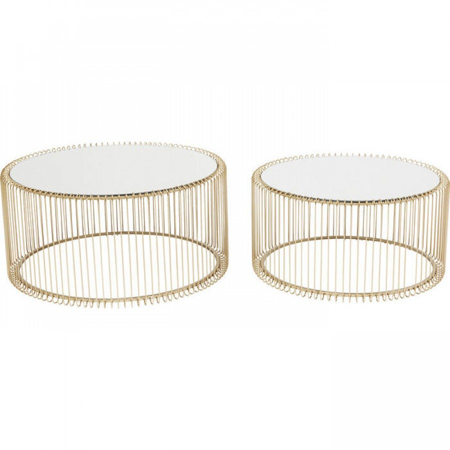 Coffee table wire brass