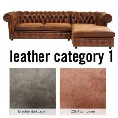 Corner Sofa Cambridge Individual Right Leather 1