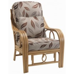 DE Dirdam Light Oak Armchair + Cushion