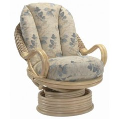 DE Dirdam Natural Swivel Chair + Cushion