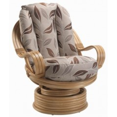 DE Dirdam Light Oak Swivel Chair + Cushion