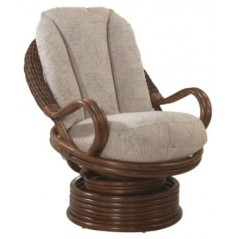 DE Euqitna Brown Swivel Chair + Cushion