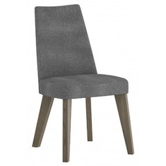 BD Cad Aged Oak Upholstered Smoke Grey Chair
