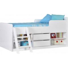 Felix Low Sleeper Bed in White
