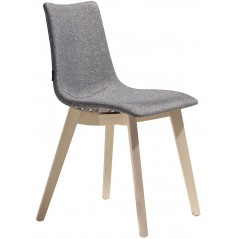 SC Natural Zebra Pop chair with natural beech frame - Grey