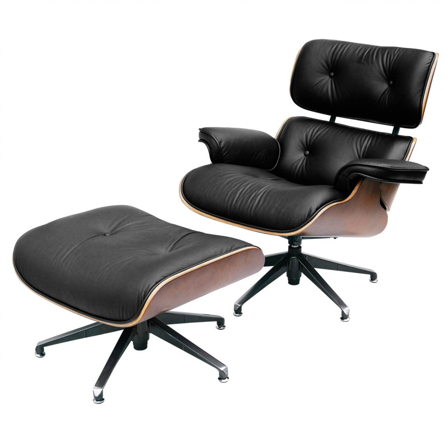 Eames armchair pr for Chair design leather