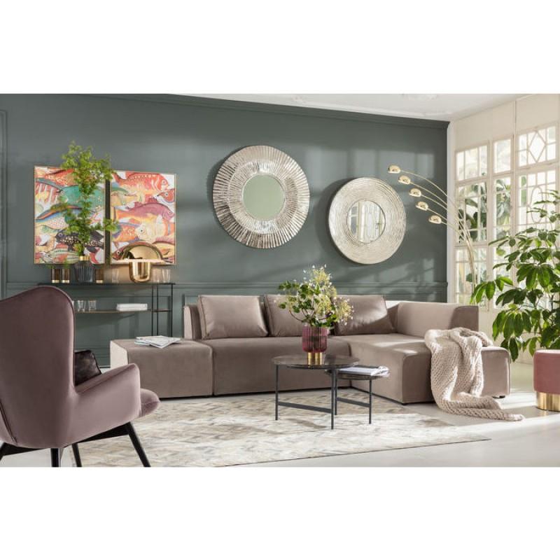 Sofa Infinity Velvet Taupe Right