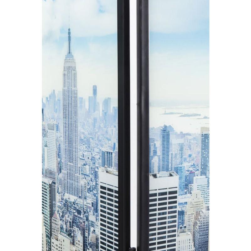 Room Divider Glass NY Skyline