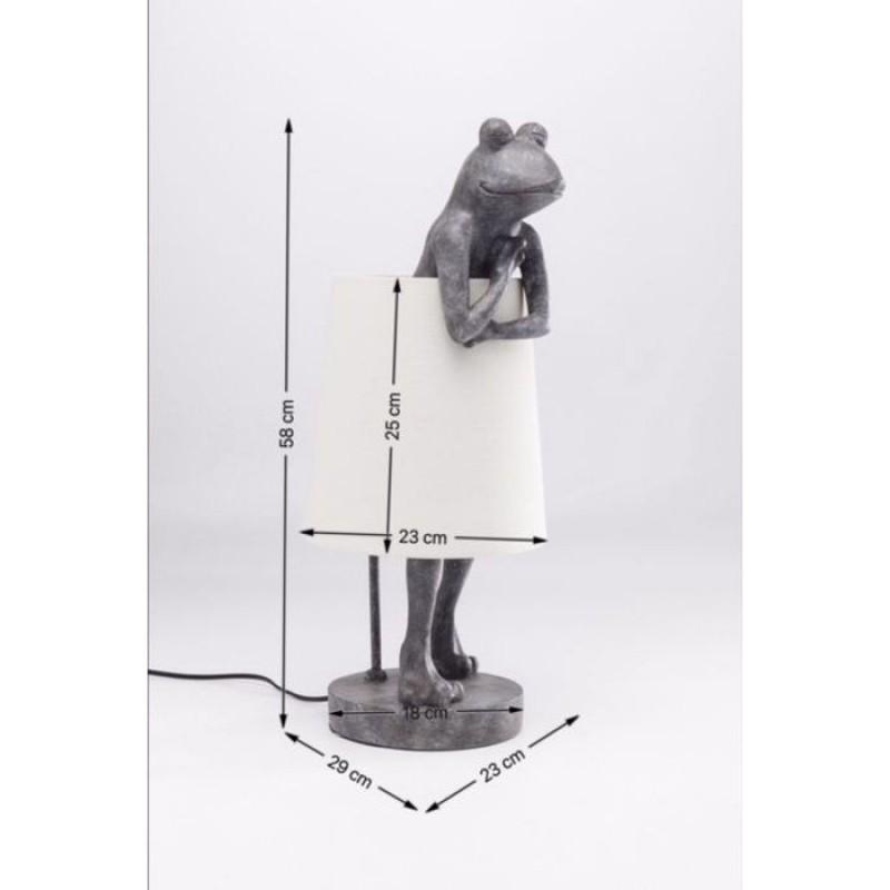 Table Lamp Animal Frog Grey