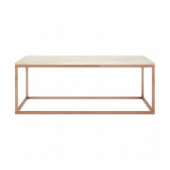 Kian Allure Coffee Table Marble Rectangular Rose Gold