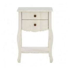 Loire Bedside Table White