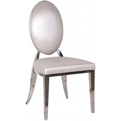Louvres Dining Chair White Oval