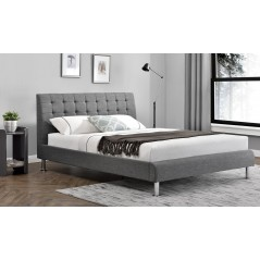 VL Lyra Fabric Bed - 4' 6 - Charcoal