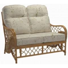 DE Olso Walnut 2 Seater Sofa + Cushion
