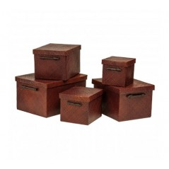 Pandanus Storage Box Brown