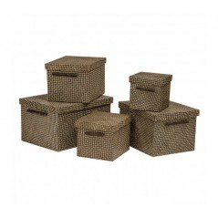 Pandanus Storage Box Black