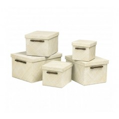 Pandanus Storage Box White