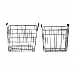 Black Wire Storage Baskets Black