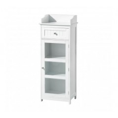 Portland Display Cabinet Short White