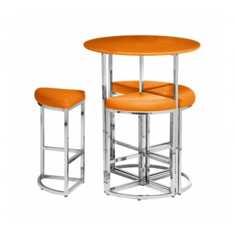 Martin Table and Stool Set 5Pc Orange