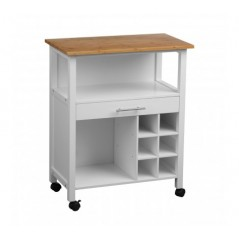Moore Kitchen Trolley White