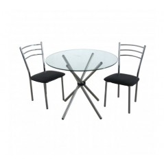 Johnson Dining Set 3Pc Black