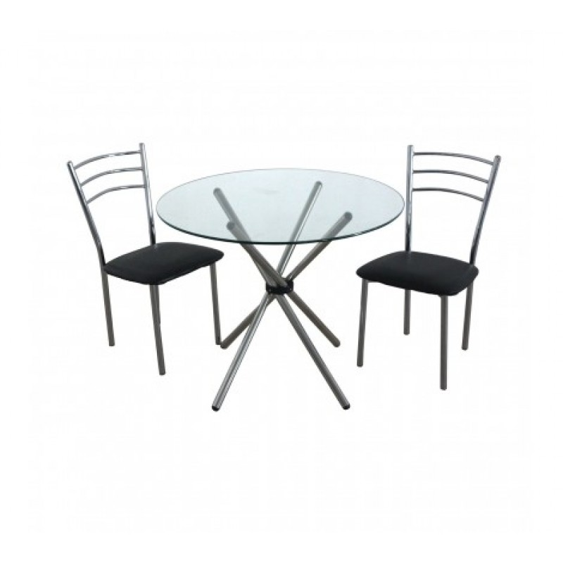 Johnson Dining Set 3Pc Black