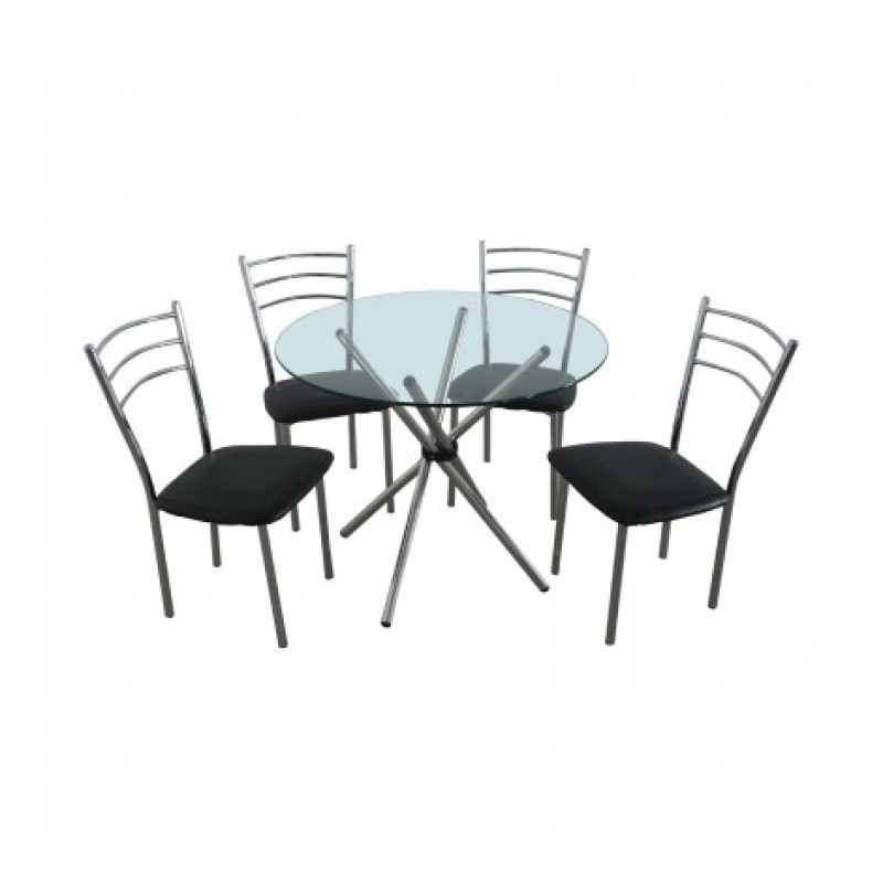 Johnson Dining Set 5Pc Black