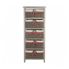 Cotswold Drawer Chest Grey Tall