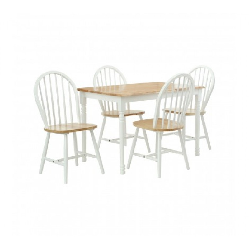 Vermont Dining Set 5Pc Natural