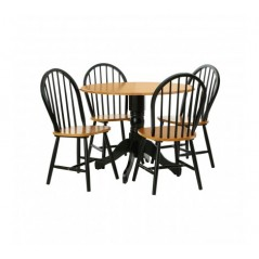 Vermont Dining Set 5Pc Black