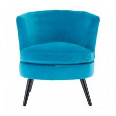 Plush Velvet Tub Chair Teal
