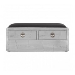 Avro Drawer Bench Bulky Silver