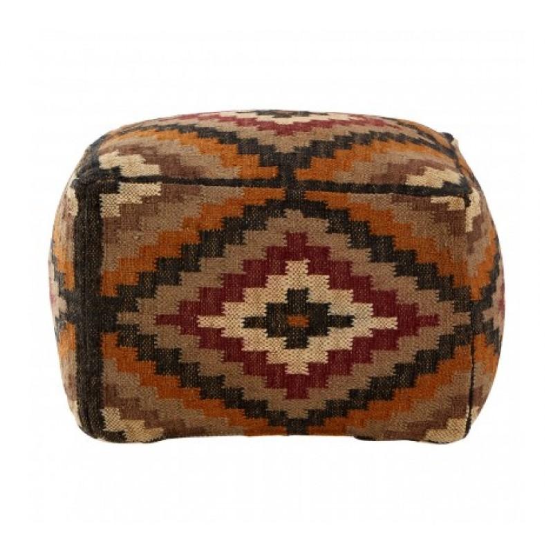 Bosie Pouffe Multi-Coloured Aztec