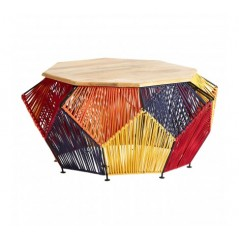 Fusion Coffee Table Octagon Multi-Coloured