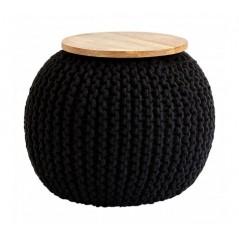 Fusion Pouffe Black