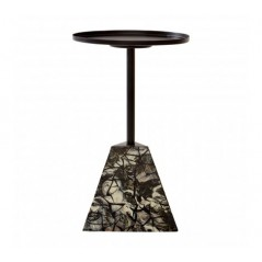 Aliso Side Table Pyramid Base Multi-Coloured
