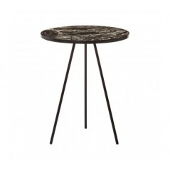 Aliso Side Table Tri-Leg Base Multi-Coloured