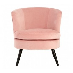 Plush Velvet Tub Chair Pink