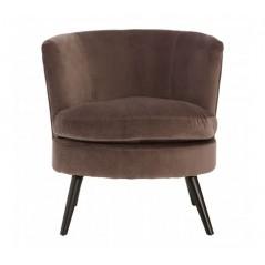 Plush Velvet Tub Chair Grey