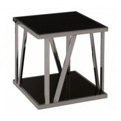 Ackley Side Table Silver